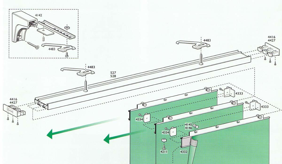 come si monta il perlinato a soffitto : le tende gli scorritenda