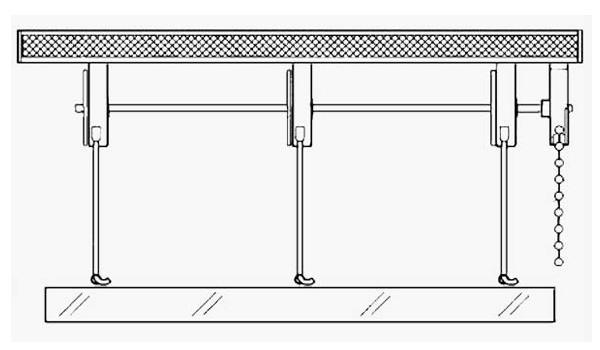 s7 scorritenda sistema per tende a pacchetto a catenella con